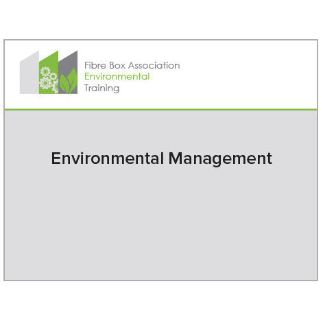 Environmental Training - two-video grouping on Environmental Management