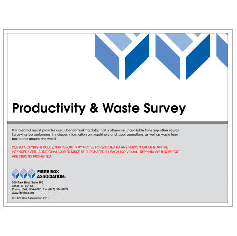 Productivity and Waste Survey (2019) - TAPPI Members