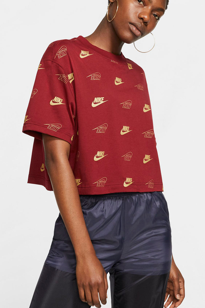 Nike - Short Sleeve Crop Top (Team Red) BV5015-677