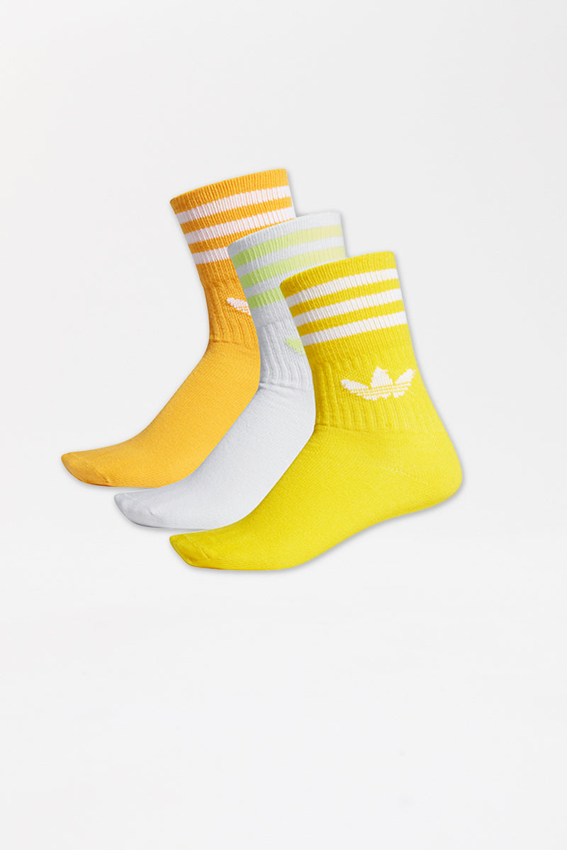 Adidas - Mid Cut Crew Sock (Yellow/Orange/White) ED9396