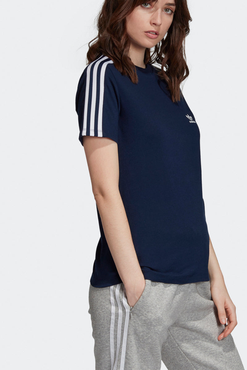 Adidas - 3 Stripes Tee in Navyblau für Damen - ED7532