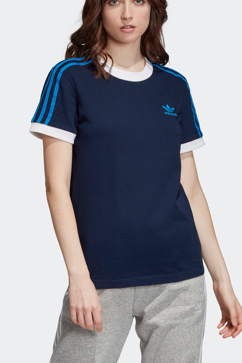 Adidas - 3 stipes Damen T-shirt in Navy - ED7484