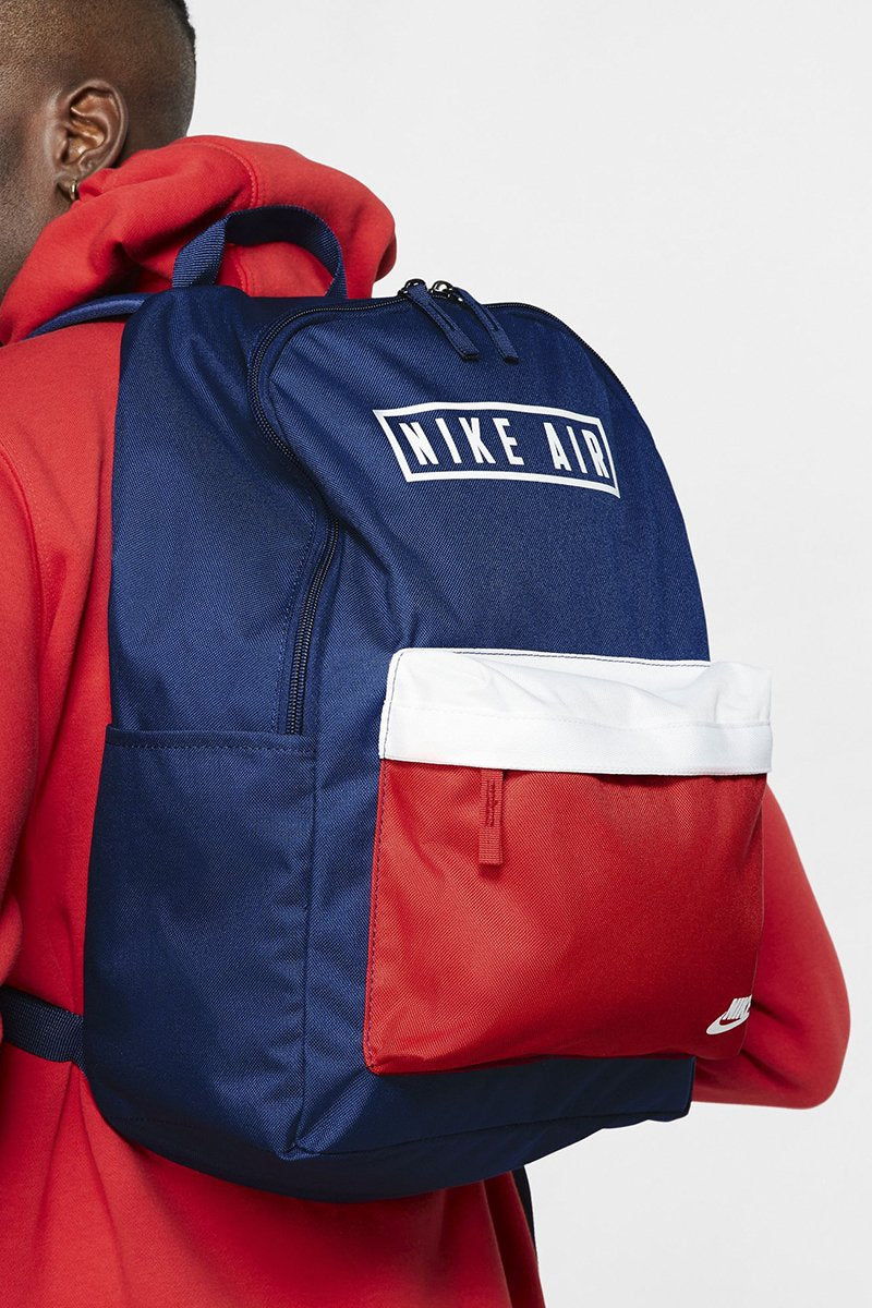 Nike - Air Heritage 2.0 Graphic Backpack (Blue Void/ University Red/ White) BA6022-492
