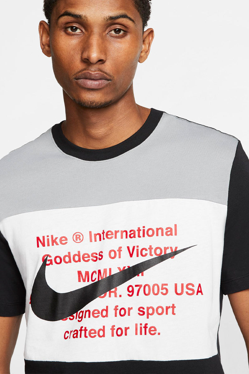Nike - Black T-shirt with Big Swoosh Print - CU9736-013