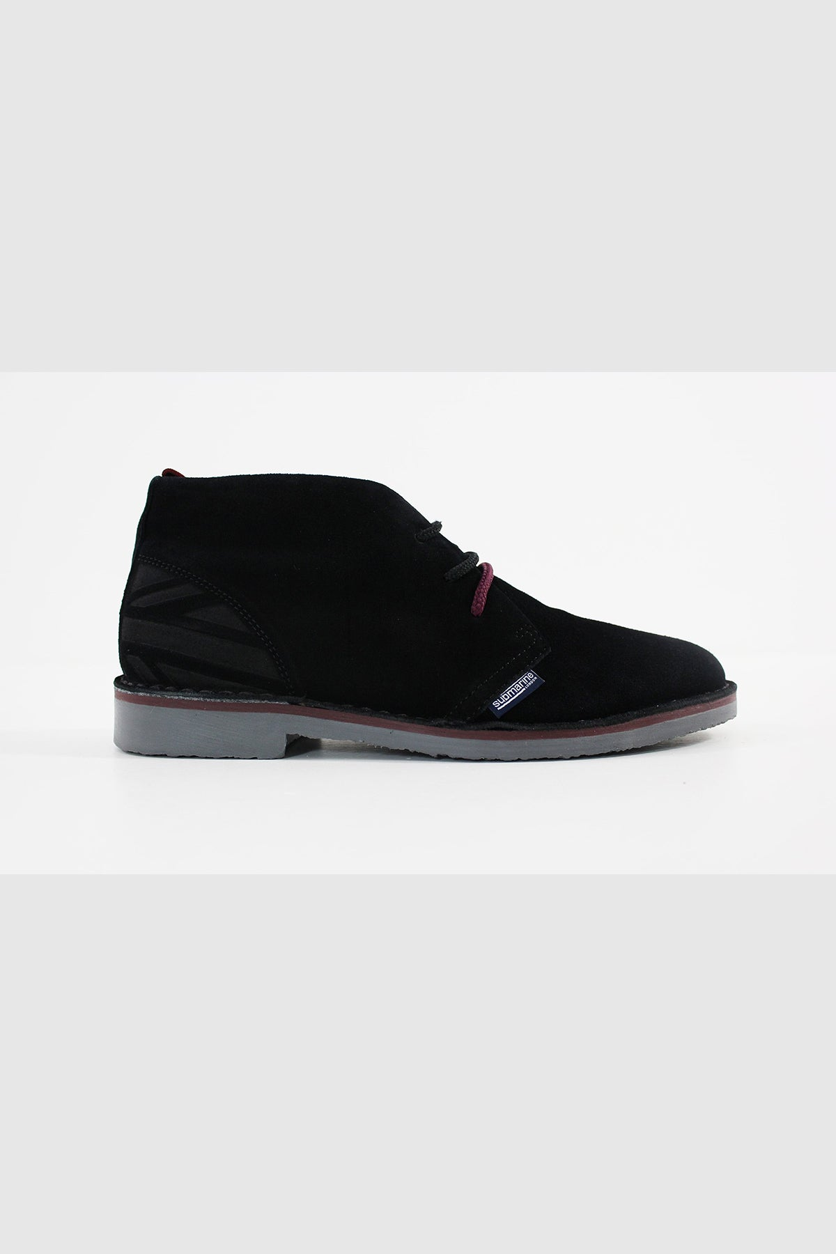 Submarine London - NEW MANCHESTER SUEDE UNISEX (BLACK-CREMISI)