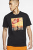 Nike - Air-T-Shirt in Schwarz mit orangenen Box Print - CK4280-010