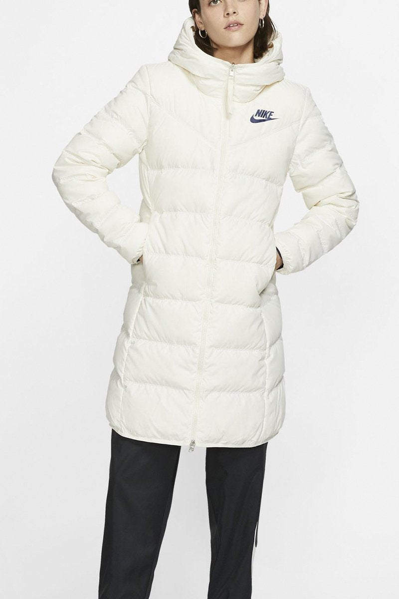 Nike - Windrunner Reversible Down Fill Parka (Pale Ivory/ Blue Void/ Blue Void) 939440-110