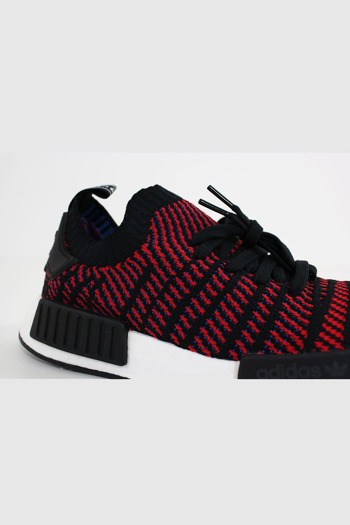 best website 06be8 0562d Adidas - NMD R1 STLT Primeknit (Core Black/ Red SLD/ Blue ...