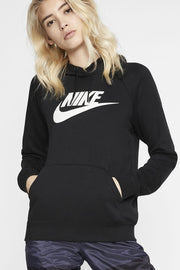 Nike - Sportswear Essential Fleece Pullover Hoodie Womens (Black/ White) BV4126-010