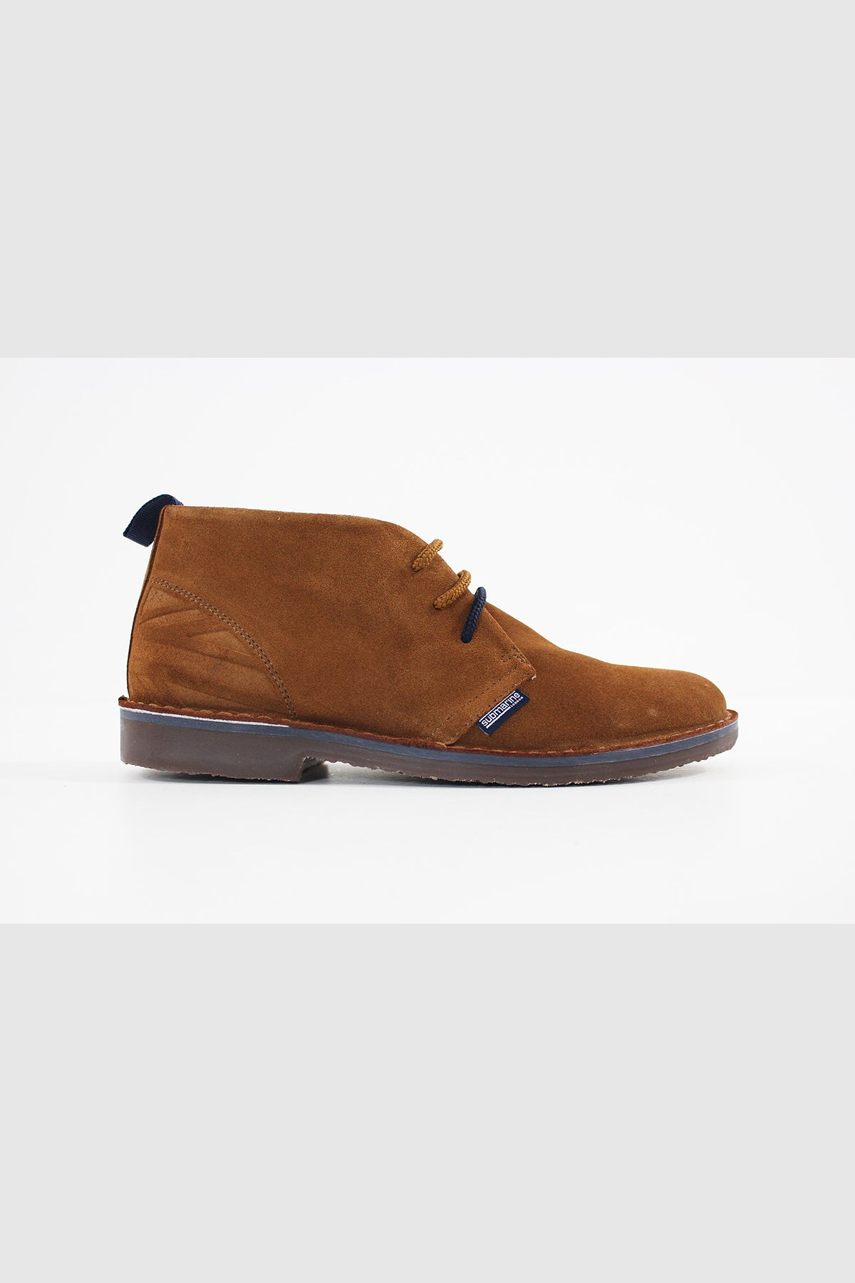 Submarine London NEW MANCHESTER SUEDE UNISEXCOGNAC-FLAG