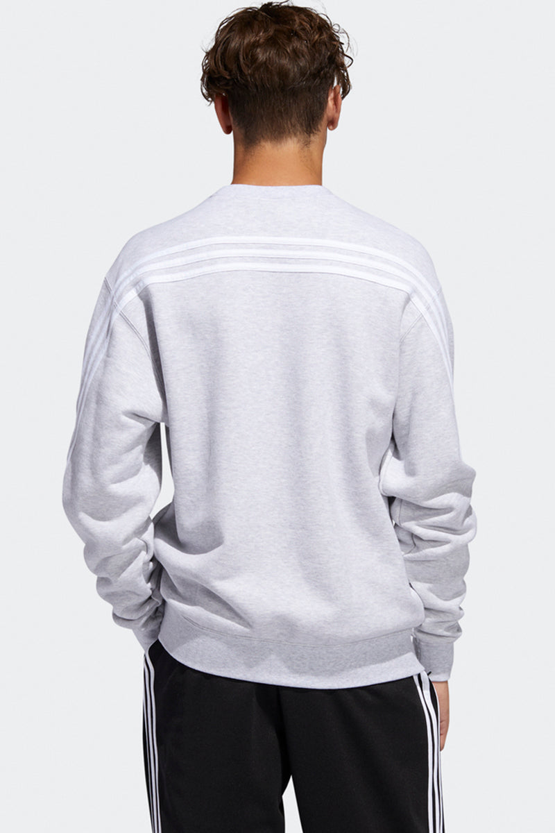 Adidas - 3-Stripes Wrap CR Crewneck (Light Grey Heather) FM1520