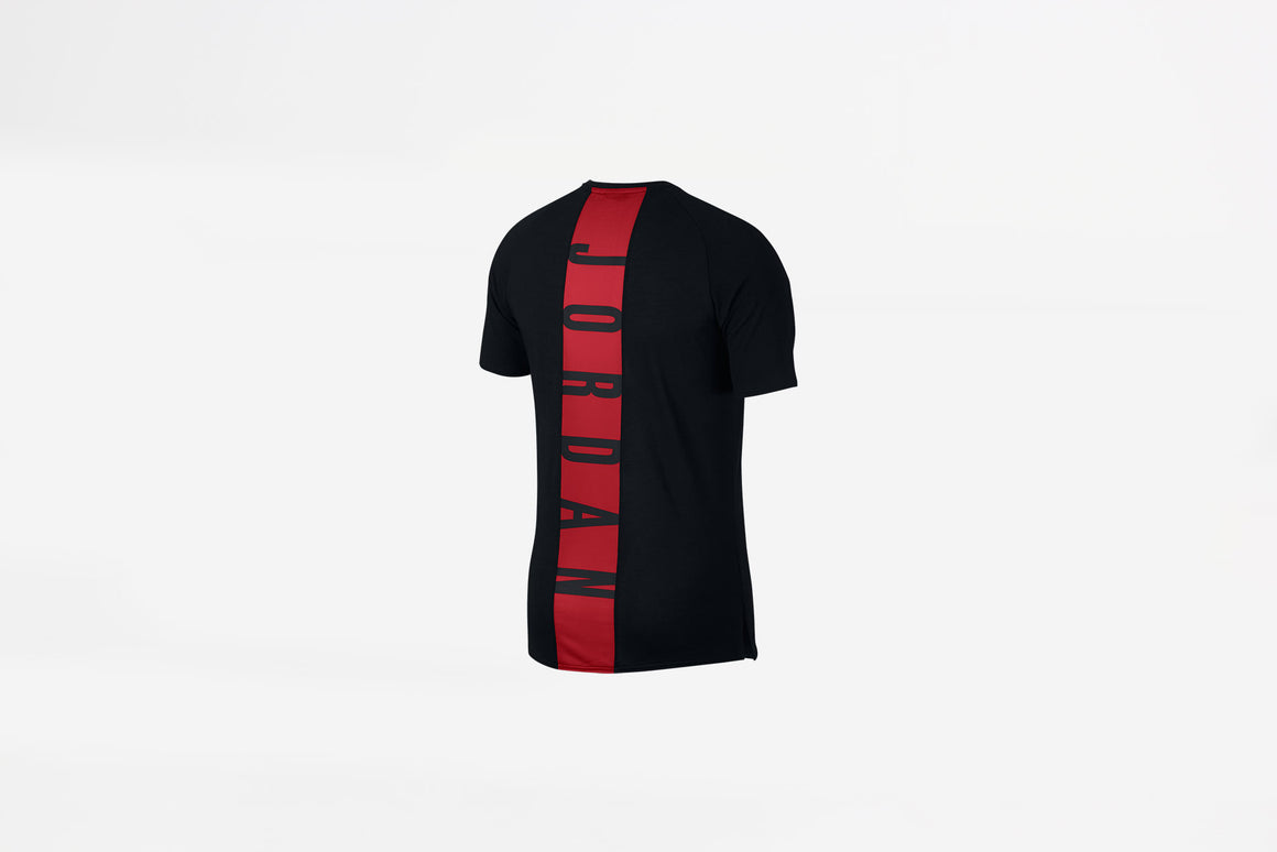 Air Jordan - Dry 23 Alpha Short-Sleeve Training Top (Black/Gym Red) 889713-010