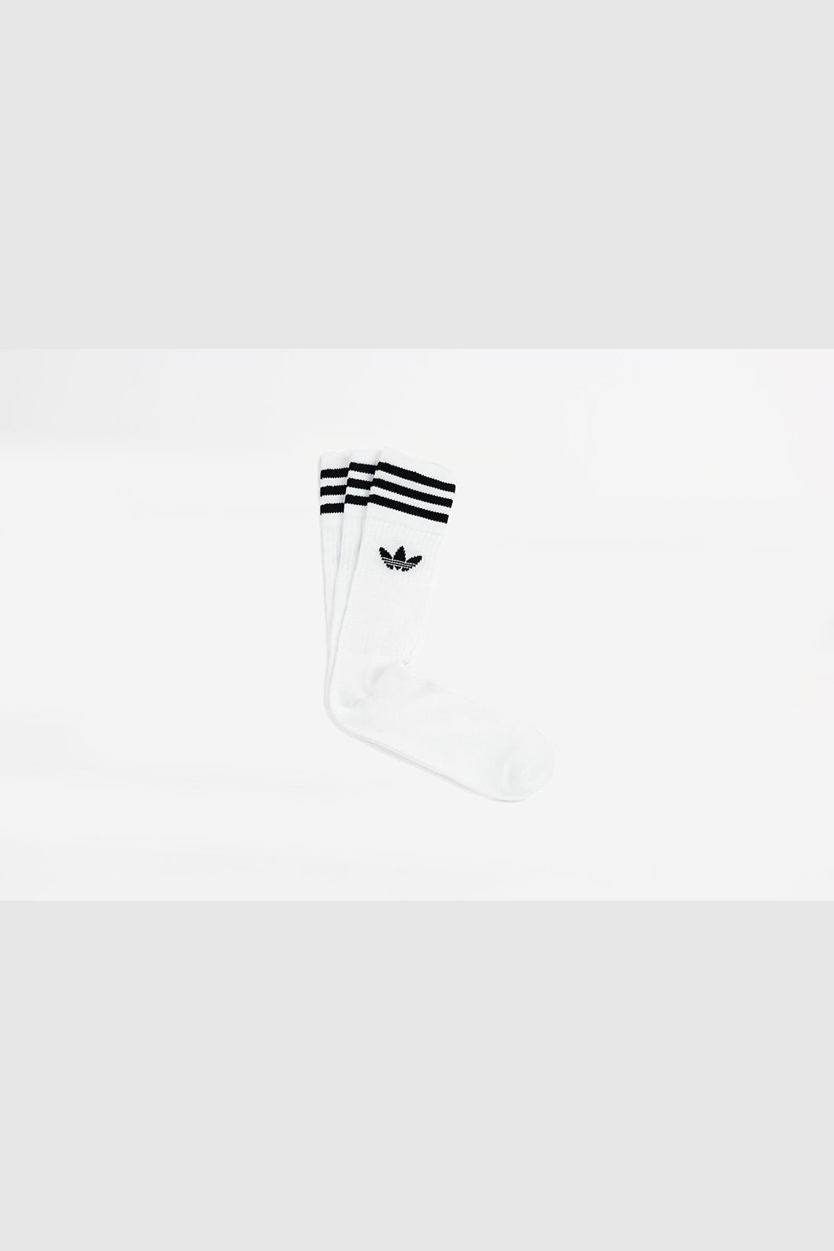 Adidas - Solid Crew Pair Sock (White/Black)S21489