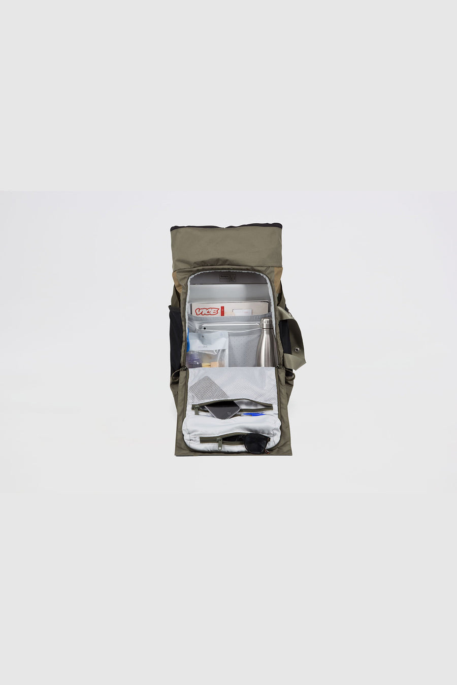 Pinqpong - Backpack Blok Medium (Tape Olive) PPC-BLM-001-253B