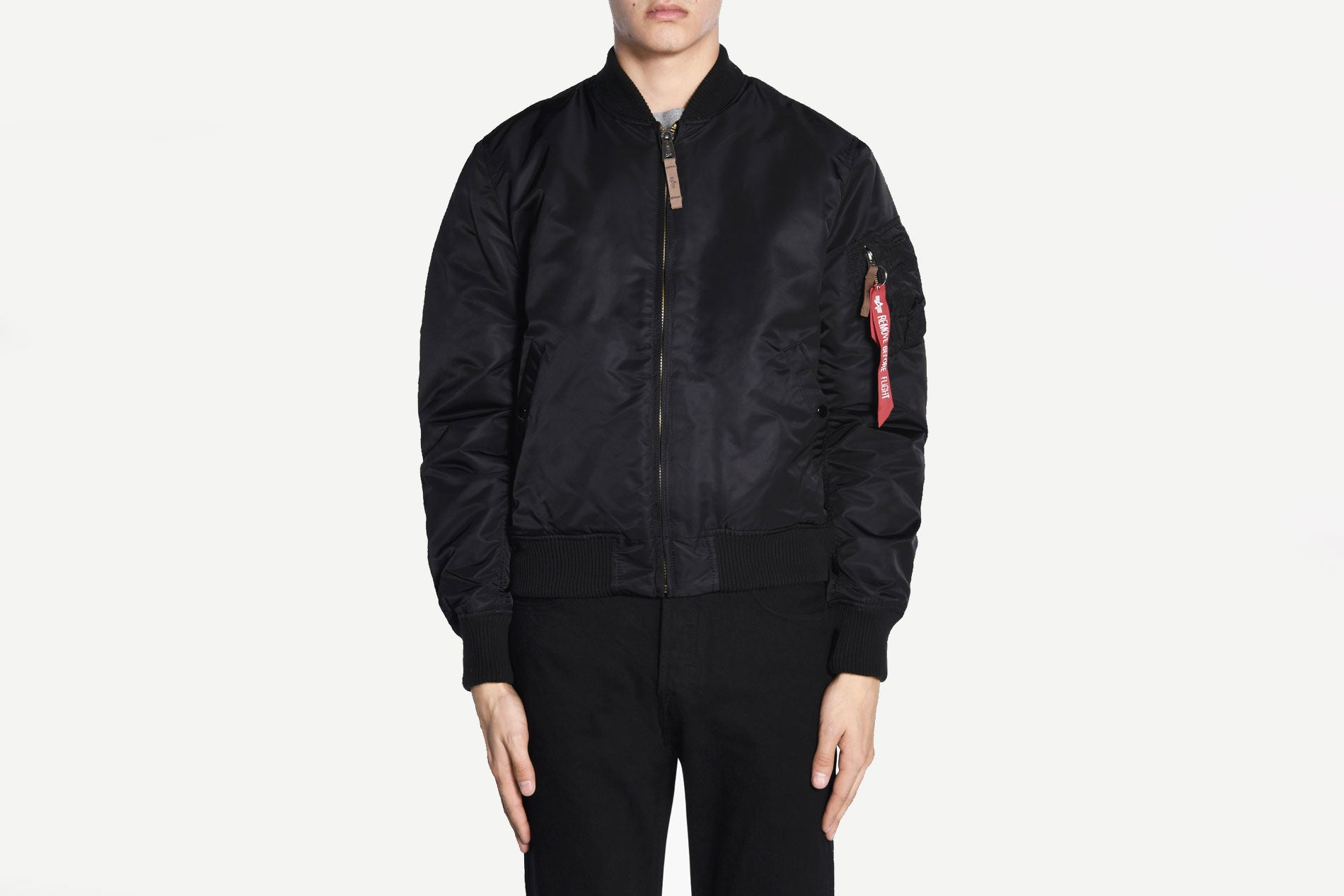 Alpha Industries - 168100 MA-1 VF 59 LONG JKT Bomber Winter Jacket (Black)