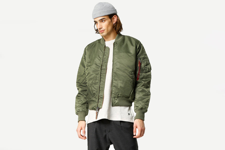 Alpha Industries - 168100 MA-1 VF 59 lange JKT Bomber Winterjacke (Sage Green)