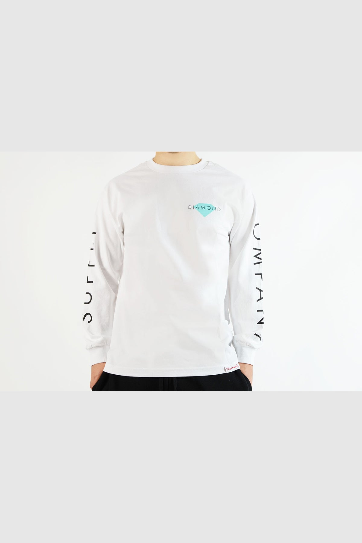Diamond - Solid L/S Tee (White)