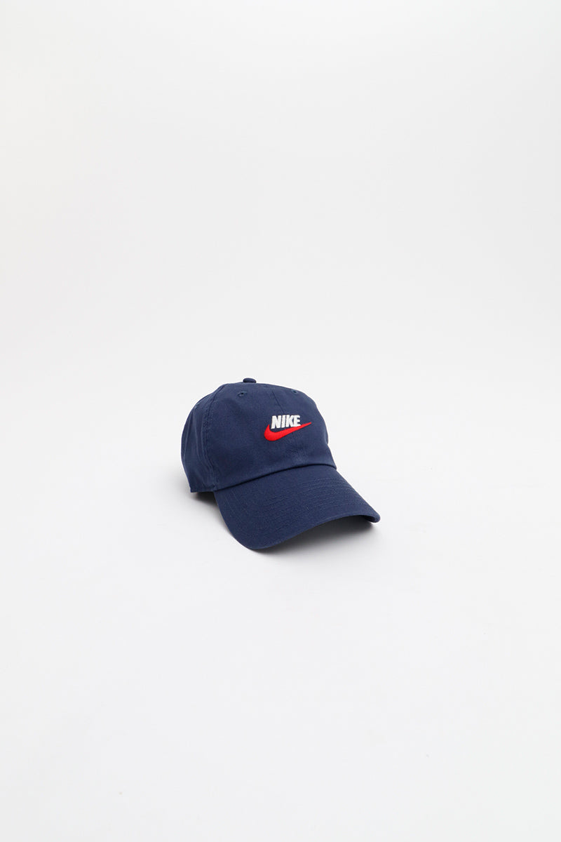 Nike - Sportswear Heritage86 Futura Washed Hat (Midnight Navy) 913011-410