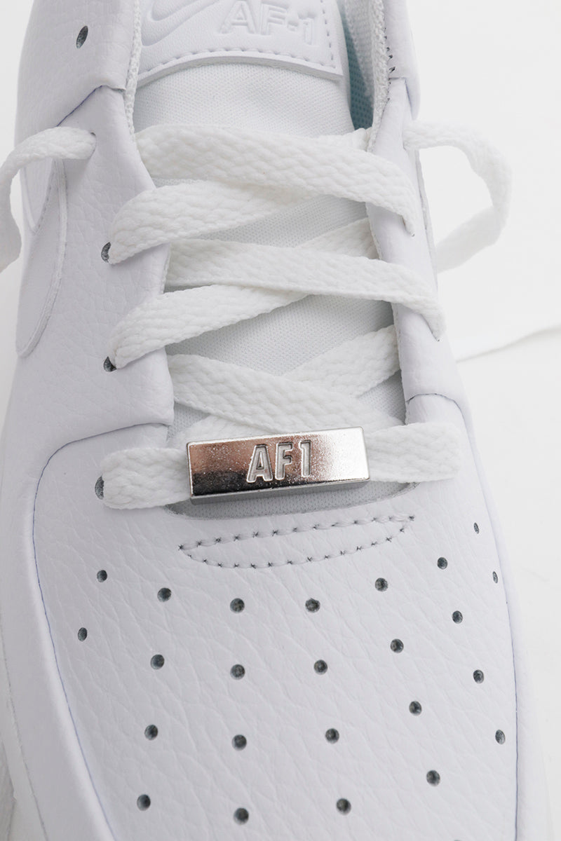 Nike Air Force 1 Sage Low tutto bianco suola extra