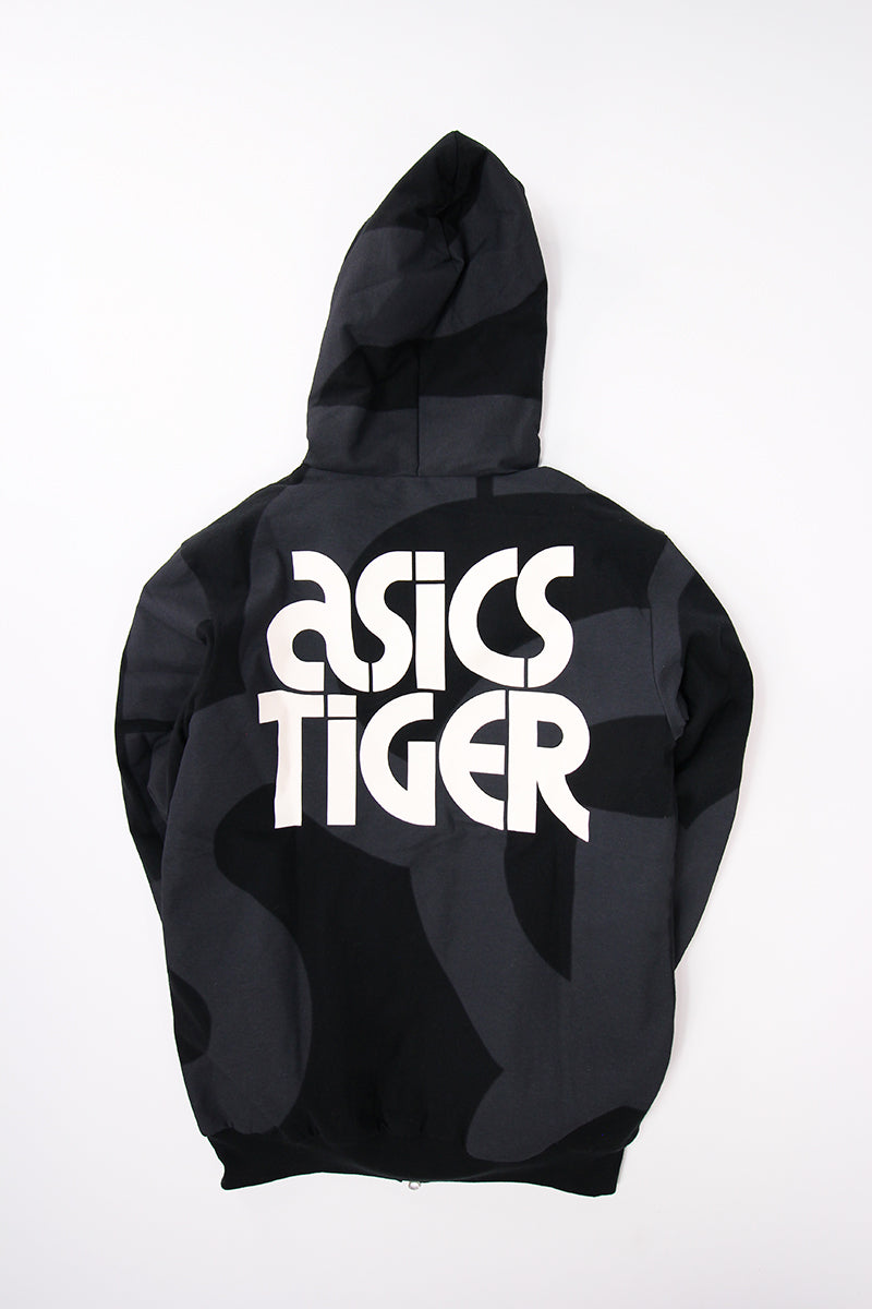 Asics - AOP Padded FZ Hoodie (PERFORMANCE BLACK) 2191A016