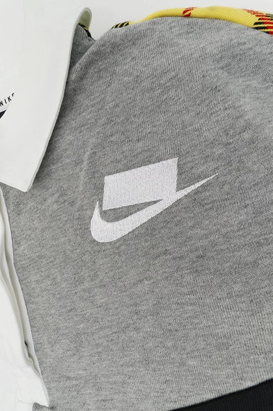 Nike - Sportswear Long Sleeve Polo Womens (White/ Dark Grey Heather/ Black/ White) BV2804-100