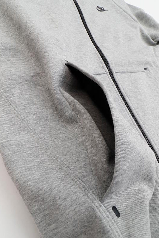 Nike - Sportswear Tech Fleece Zip Hoodie DK Grey Heather/ Black/ Black) 928483-063