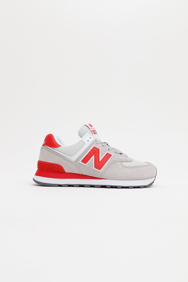 New Balance - WL574WNB Women (Grey/ Red)