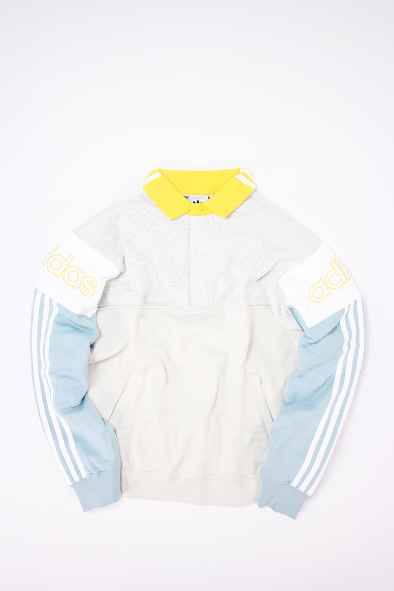 Adidas - Rugby Sweatshirt with Vintage Collar (Raw White) DV3147