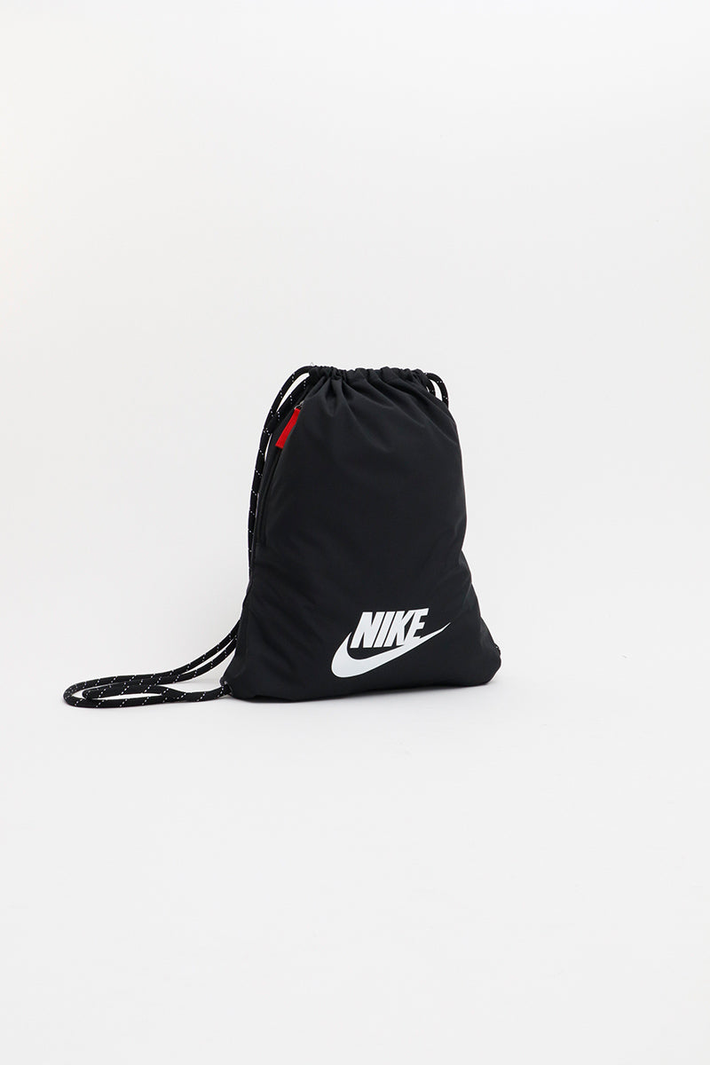 Nike - Heritage 2.0 Gym Sack (Black/ Black/ White) BA5901-010