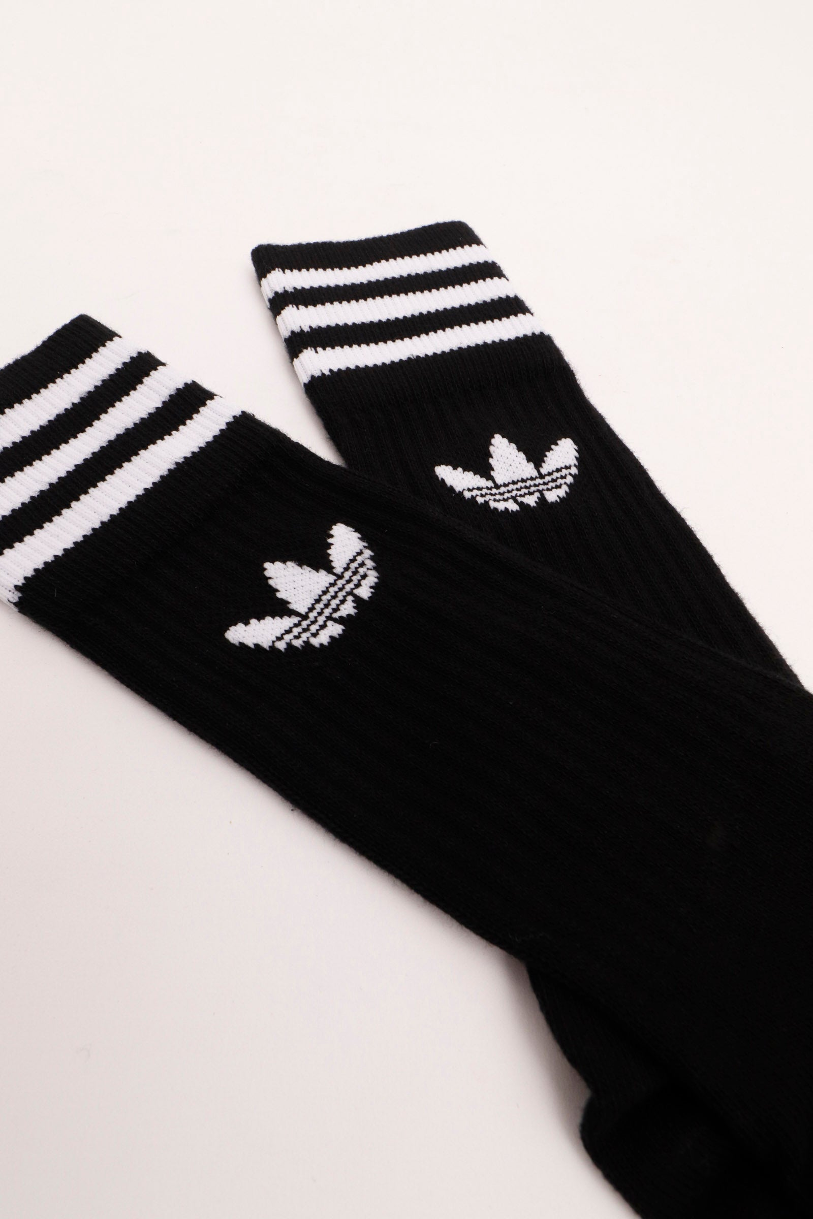 Adidas -  Solid Crew Pair Sock (Black/White)S21490