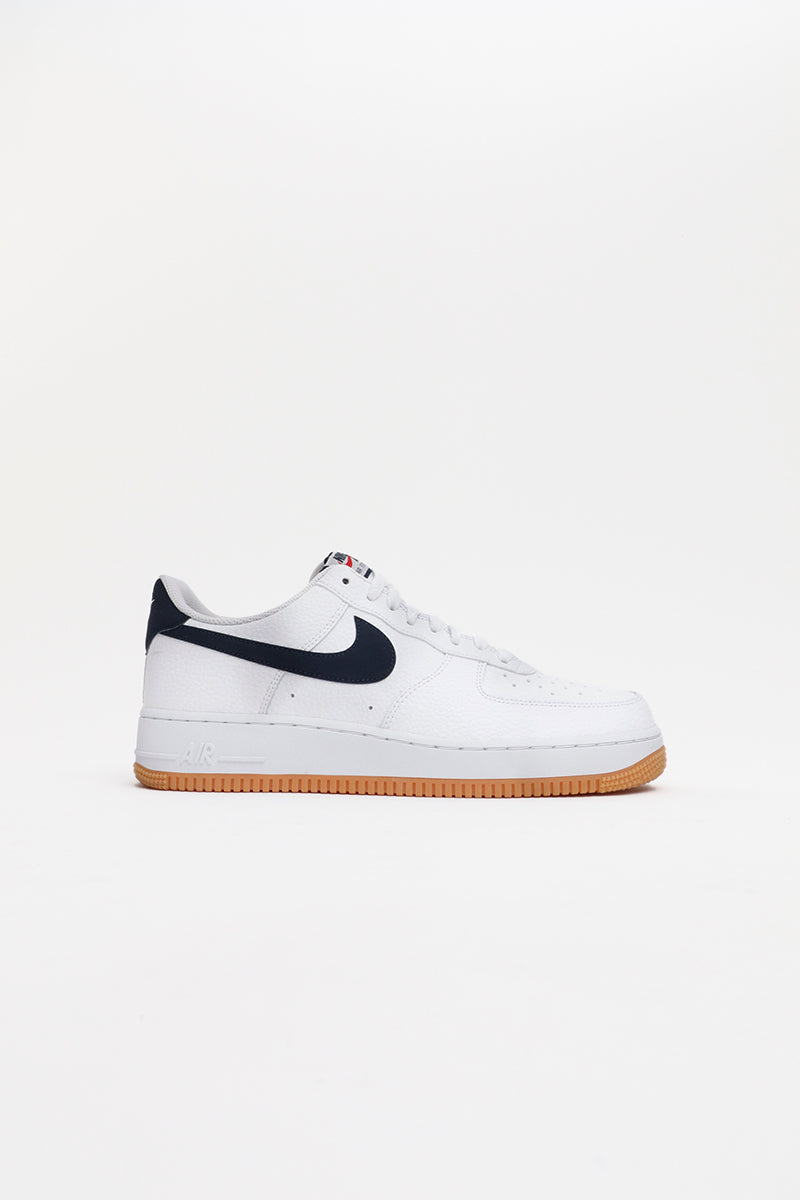 Nike - Air Force 1 White/ Obsidian-University Red) CI0057-100