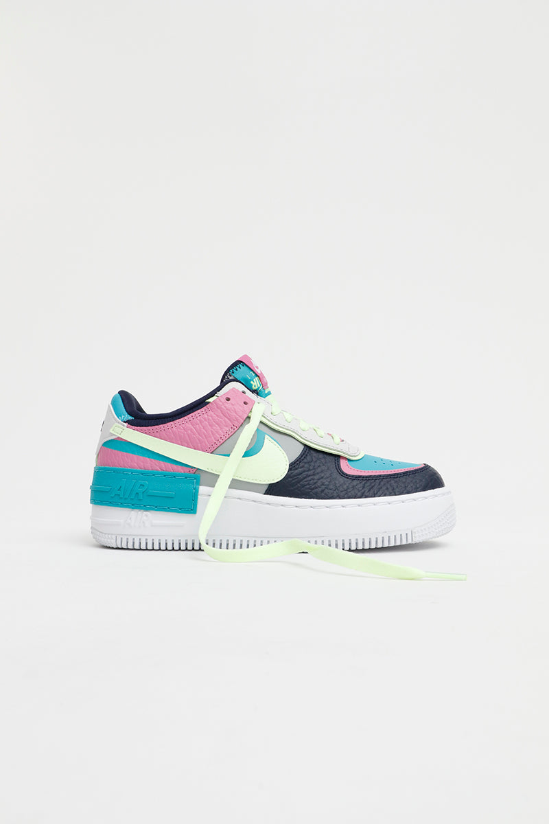 Nike - Air Force 1 Shadow SE Women (Lt Smoke Grey/ Barley Volt-Oracle Aqua) CK3172-001