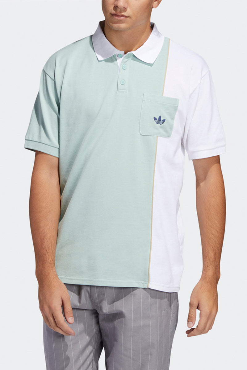 Adidas - Piped Polo (Green Tint/ White/ Savann) FM1418