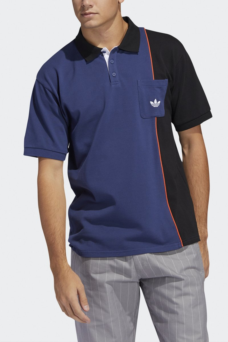 Adidas - Piped Polo (Tech Indigo/ Black/ Gloamb) FM1367