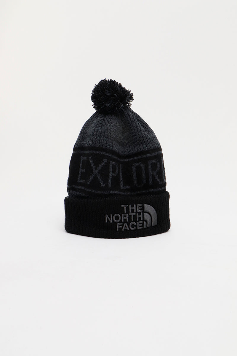 The North Face - Retro Pom Beanie (Mdgyhr/ Black) A3FMPG