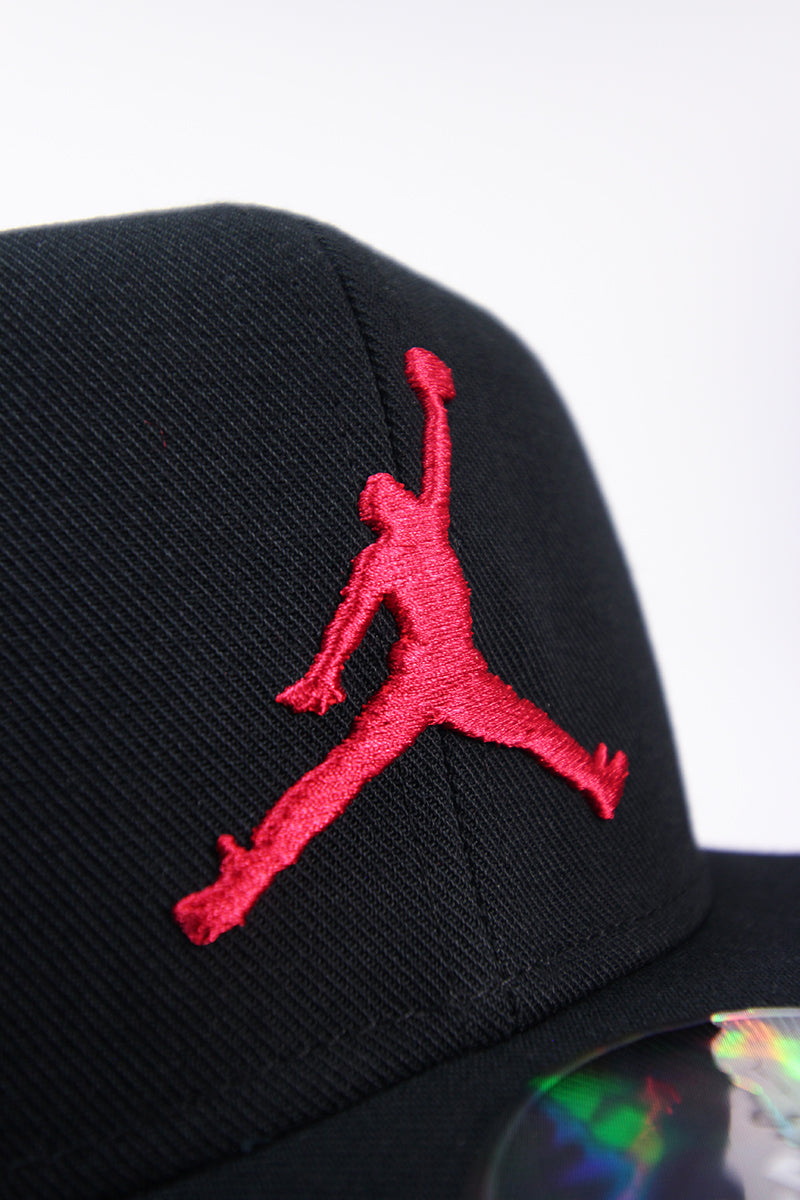 Air Jordan - Jordan Pro Jumpman Snapback (black/black/gym red) AR2118-010