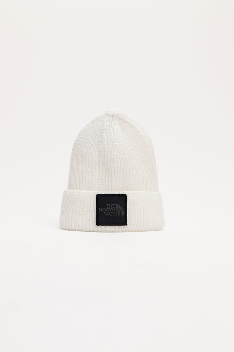 The North Face - Logo Box Cuf Beanie (White/ Silver Reflectiv) A3FJXRW