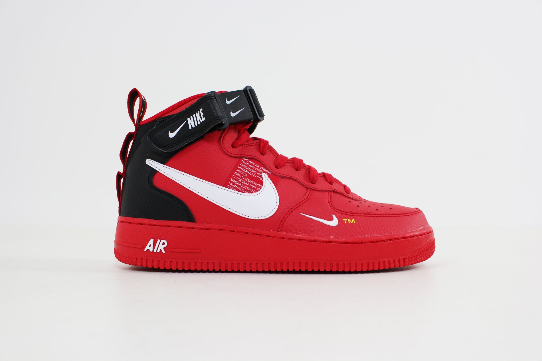 Nike Air Force 1 Mid 07 LV8 (Uinversity Red White Black Tour Yellow) 804609 605