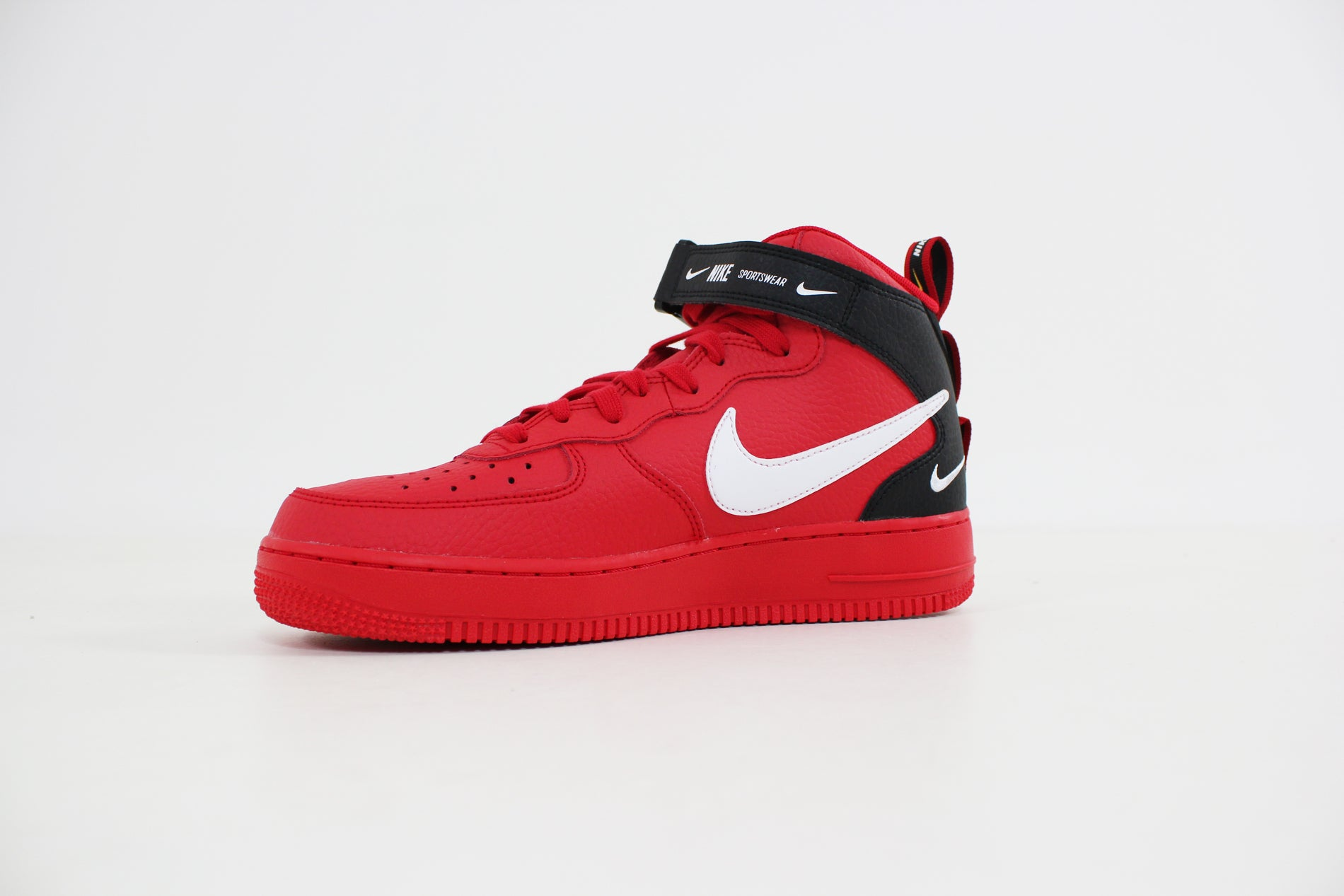 Nike - Air Force 1 Mid 07 LV8 (Uinversity Red/ White Black Tour Yellow) 804609-605