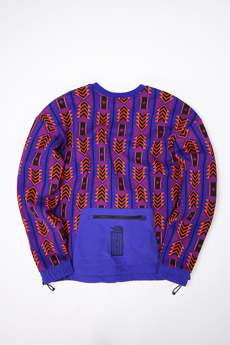 The North Face - Rage Fleece Crewneck 92 (Aztec Blue Rage) T93MIF9QZ