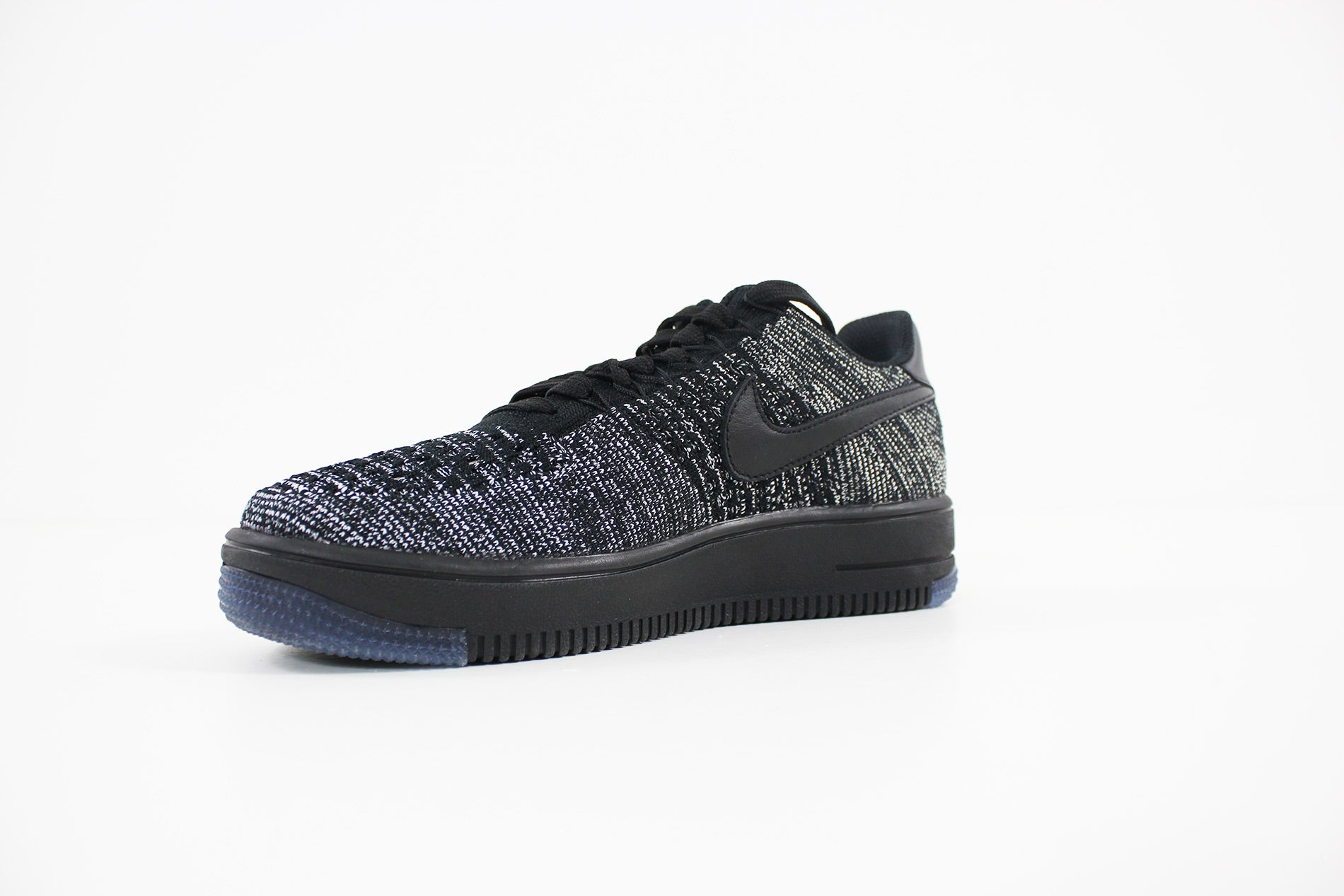 Nike Air Force 1 Flyknit Low Donna (NERO   NERO BIANCO) 820256 007
