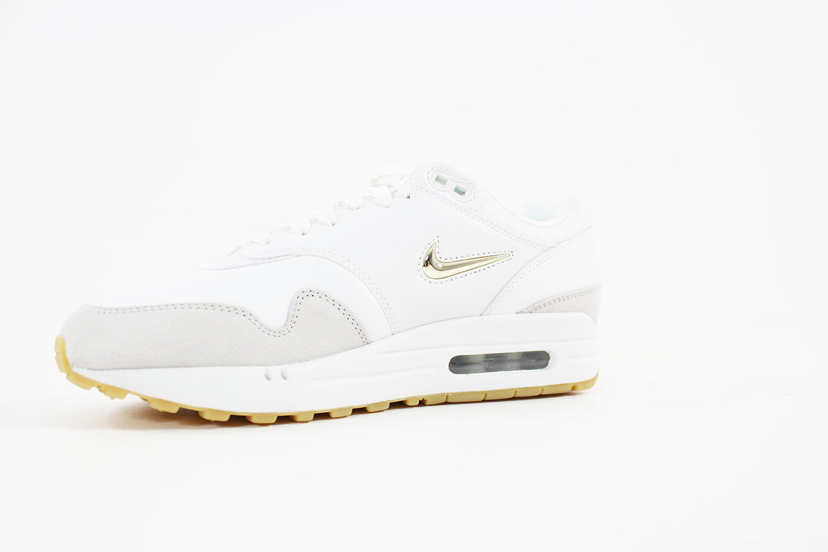Nike - Air Max 1 Premium SC Women (SUMMIT WHITE/MTLC GOLD STAR-LIGHT BONE) AA0512-100