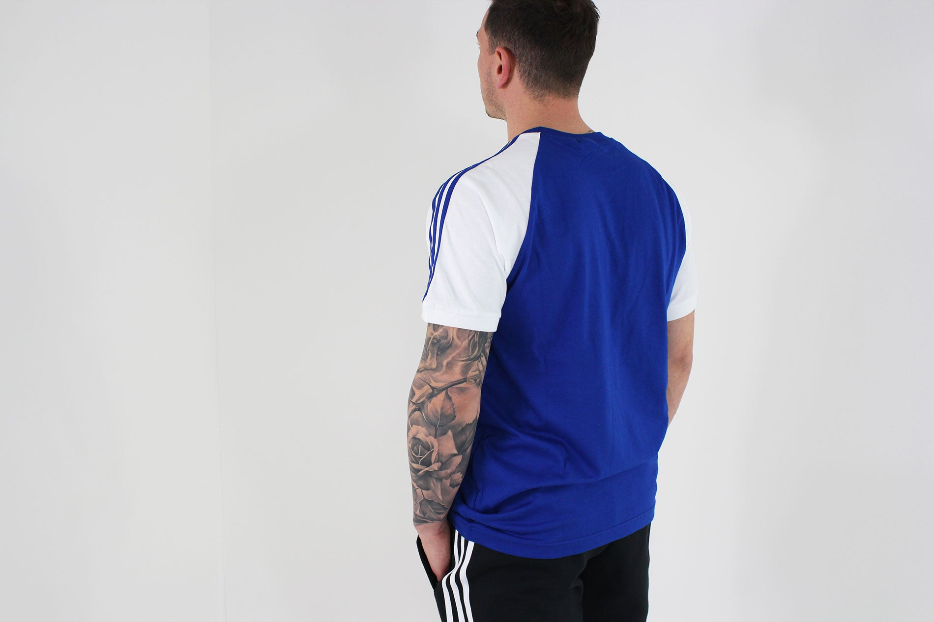 Adidas - T -Shirt 3 Stripes Short Sleeve (Collegiate Royal) CW1205