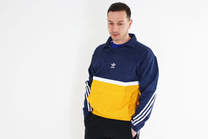 Adidas - Sweatshirt Drill Pullover Long Sleeve (Noble Indigo/ Collegiate Gold) CE4811