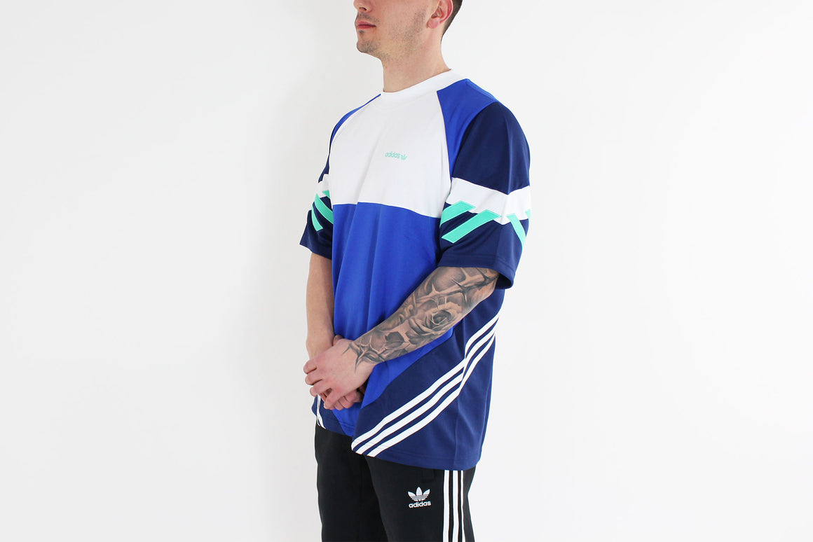 Adidas - T - Shirt Chop Shop Short Sleeve (Boblue/ Dark Blue) CE4843