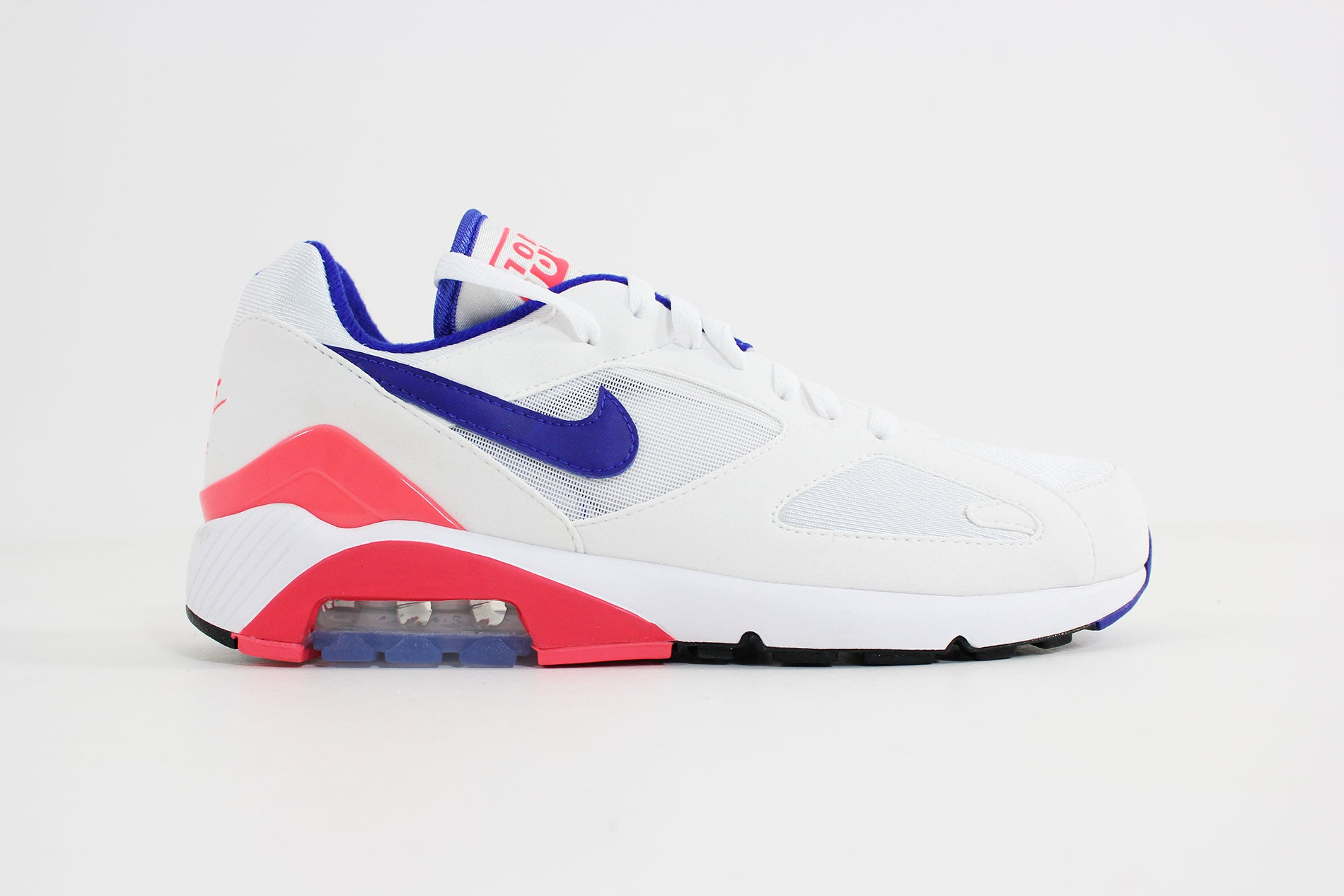 the latest 495c2 0a6be Nike - Air Max 180 (White Ultramarine - Solar Red) 615287-100