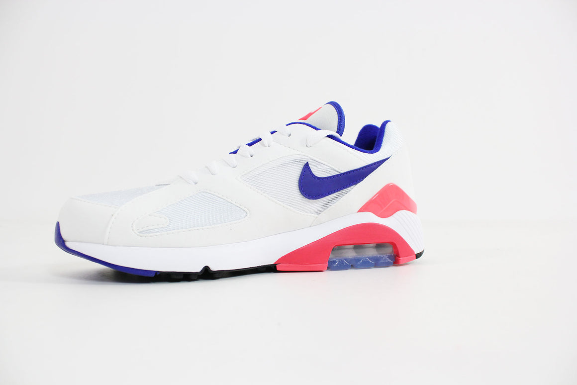 Nike - Air Max 180 (White/Ultramarine - Solar Red) 615287-100