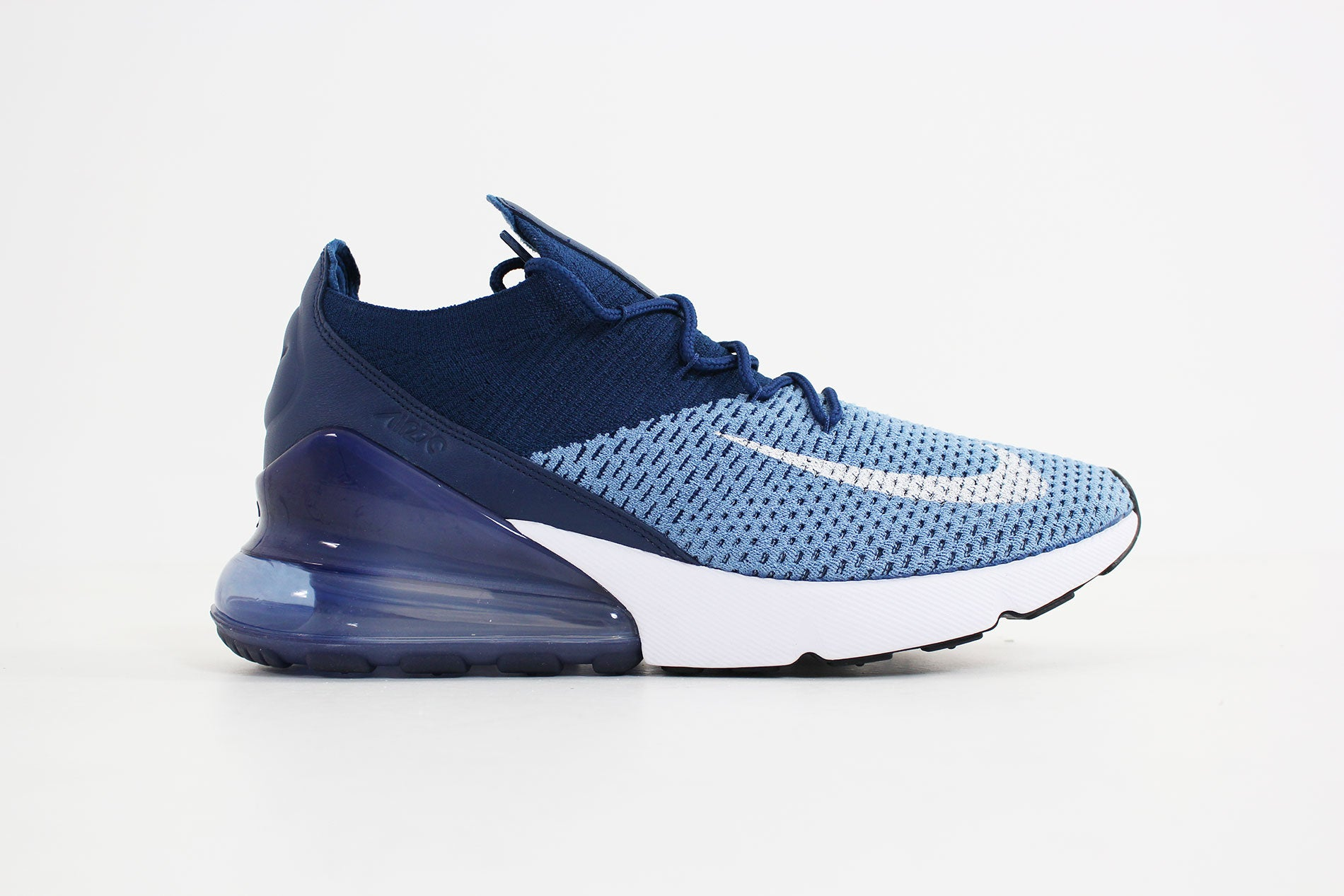 Nike Air Max 270 Flyknit Work BlueWhite Brave Blue Outlet