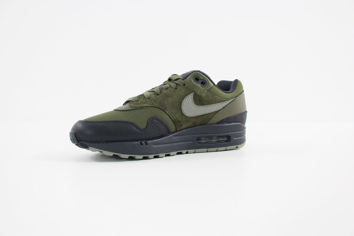 Nike - Men's Air Max 1 Premium Shoe (MEDIUM OLIVE/DARK STUCCO-ANTHRACITE) 875844-201