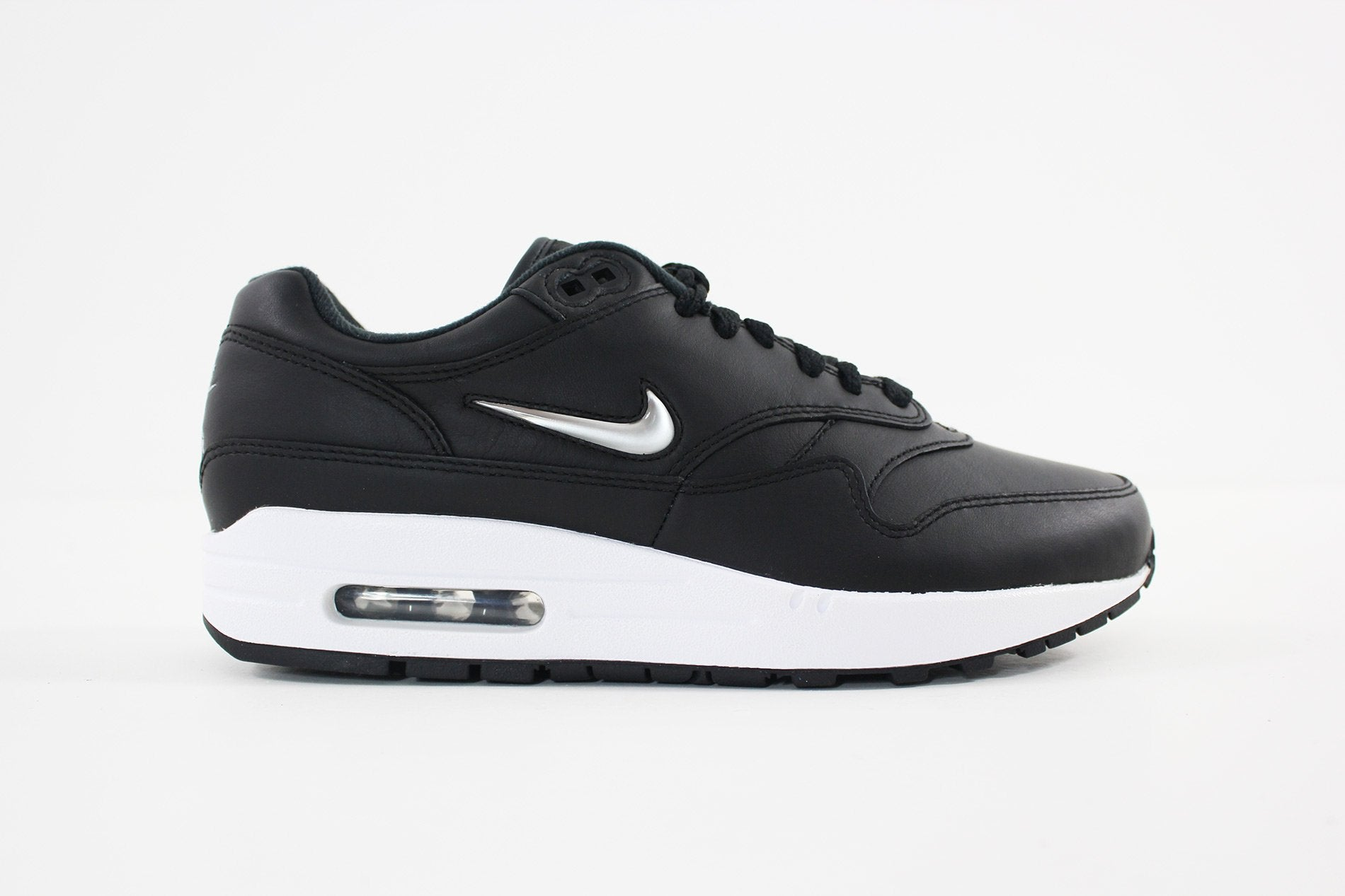 Nike- Men's Air Max 1 Premium SC Shoe (BLACK/METALLIC SILVER-WHITE) 918354-001